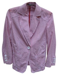Liz Claiborne Red and White Blazer
