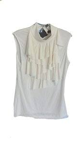 Cable & Gauge Ruffled Front Top CREAM