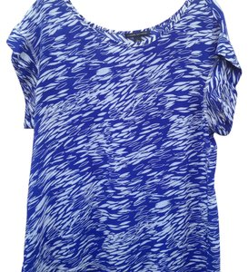 Banana Republic Top Colbalt blue and white