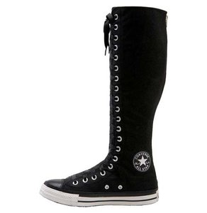 Converse Canvas Ribbon-laced Zipper Black Boots