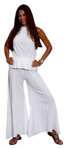 Lirome Bohemian Flare Pants White
