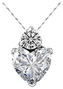 Other New 14K White Gold Filled Cubic Zirconia Necklace Silver J2995