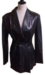 Other Belted Wrap Leather Jacket