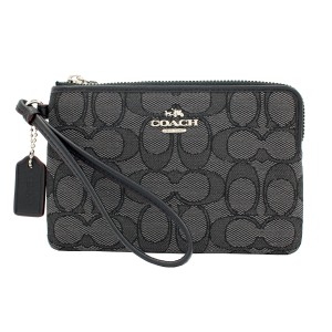 Coach F54627 Wristlet in Black Smoke/Black