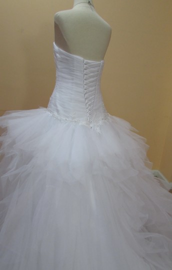 Alfred Angelo White Net 238 Formal Wedding Dress Size 10 (M)