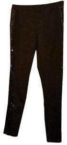 Be Bop Sequin Black Leggings