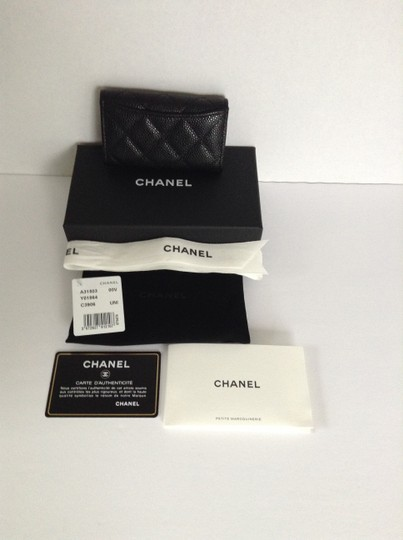 Chanel Chanel 6 Key Holder in Caviar Leather