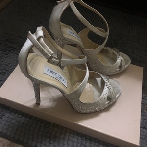Jimmy Choo Satin Ivory Formal