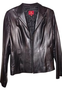 Cole Haan Classic Lambskin Leather Leather Jacket