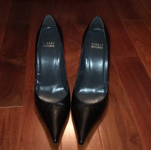 Stuart Weitzman Black Leather Pumps
