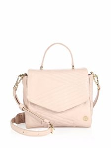 Tory Burch Quilted Leather Satchel in Light Oak
