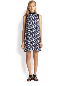 A.L.C. short dress Pink, Blue, Black Silk Floral Shift on Tradesy