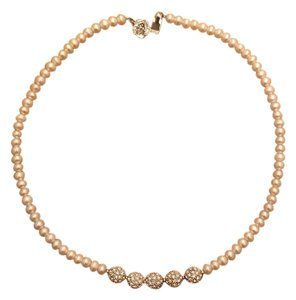 Pearl embellished choker necklace