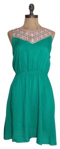 Flying Tomato short dress GREEN Embroidered on Tradesy