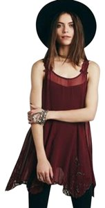 Free People short dress Rouge Hippie Boho Holiday Tunic on Tradesy