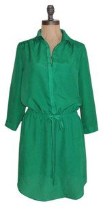 Aqua short dress GREEN on Tradesy