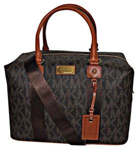 Michael Kors Travel Weekender Satchel Signature Brown Travel Bag