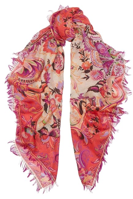Item - Multicolor Wool and Silk-blend Scarf/Wrap