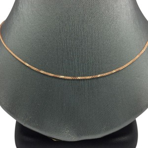 14K Rose Gold Foxtail Chain 16 Inches ~0.70mm