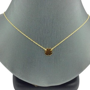 Other 14K Yellow Gold Dainty Clover Necklace