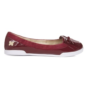 Butterfly Twist Chic Stylish Casual Red Flats