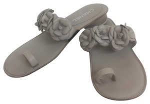 Chanel Taupe Sandals