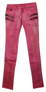 Tripp Nyc Jeans Stretchy Zippers Straight Pants Hot pink