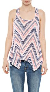 Almost Famous Clothing Top Neon Pink/Cobalt