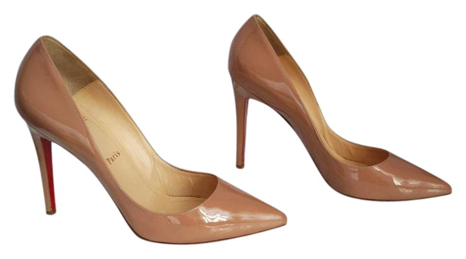 Christian Louboutin Nude Pigalle 100 Patent Leather 40 Pumps Size US ... d0dd35c93776