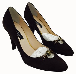 Lulu Guinness Suede Pump One Of A Kind Brown Pumps