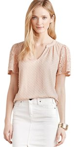 Anthropologie One September Top Pink, Blush