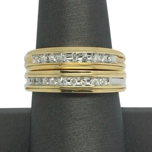 Other 14K Two-Tone Gold Wedding Set with Natural Diamond