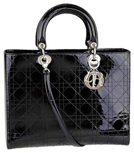 Dior Patent Tote in Black