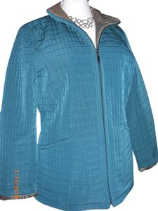Gallery Quilted Teal & Brown Jacket