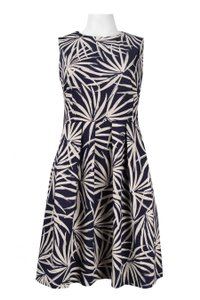 Taylor short dress White and Blue Floral Flowy A-line on Tradesy