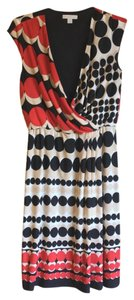 New York & Company short dress Red Polka Dot A-line Cap Sleeve Black White on Tradesy