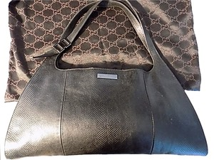Gucci Vintage Leather Satchel in Black