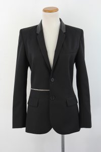 Barbara Bui Black Blazer Leather Coat