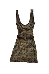 Missoni Knit Sheer Cover Up Top Black & Gold