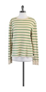 Marc Jacobs Tan Green Striped Cotton Sweatshirt