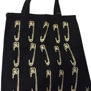 Saint Laurent Tote in Black & Withe