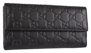 Gucci 143389 Women's Leather Black Clutch