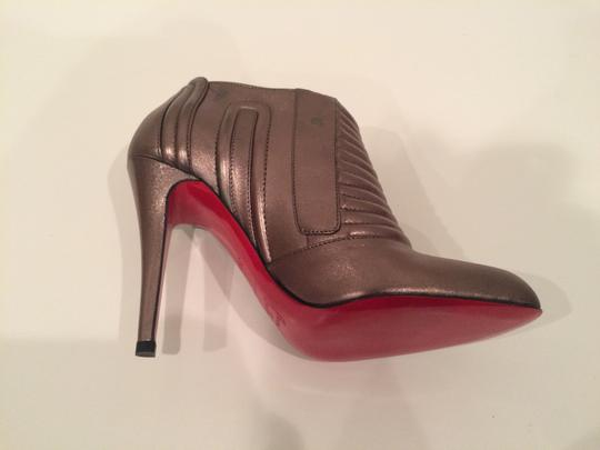 Christian Louboutin Leather Pewter Boots