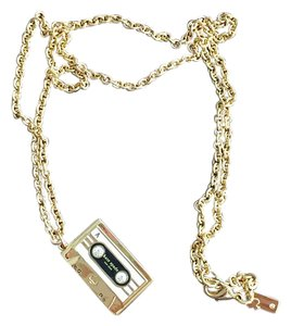 Kate Spade Kate Spade Jazz Things Up Retro Cassette Tape Pendant Necklace