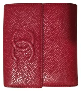 Chanel Red Caviar leather Chanel Wallet