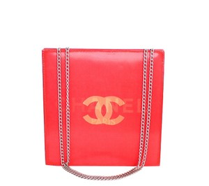 Chanel Logo Red, Rouge Clutch
