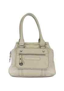 Marc by Marc Jacobs Cream Pebbled Leather Shoulder Bag