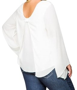 Ashley Stewart Top OFF WHITE