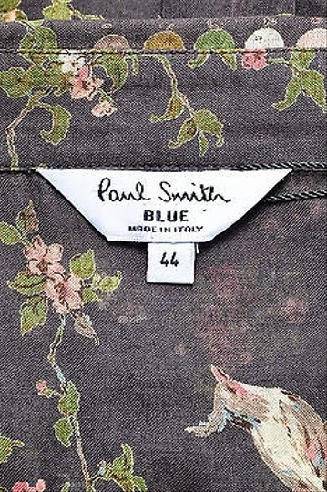 Paul Smith Taupe Green Pink Floral Print Button Down Shirt 60%OFF
