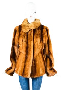 Other Vintage Louis Feraud For Neiman Marcus Tan Fur Collared Ls Coat